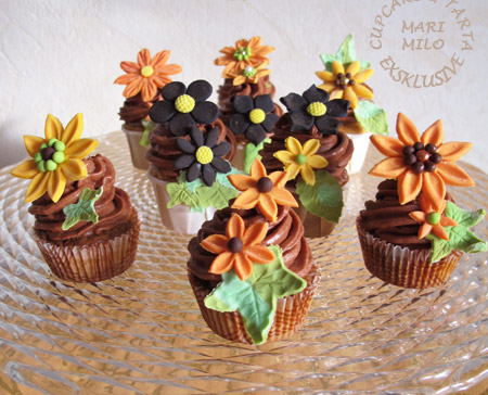 Mörk Choklad Lemon Kurd Cupcakes