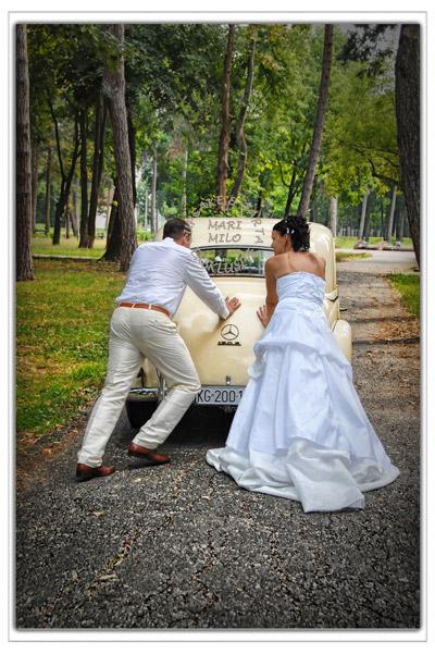 Romantiskt bröllop