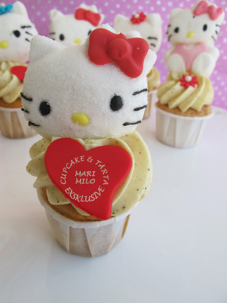 Hello Kitty Valentino Cupcakes