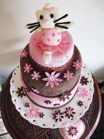 Hello Kitty ballerina tårta