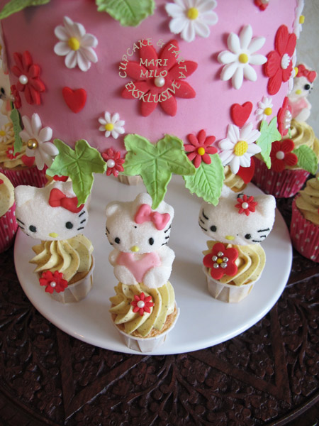Hello Kitty cupcakes & cake