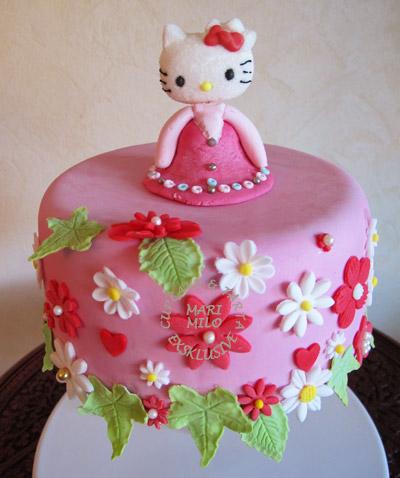 Hello Kitty födelsedagstårta