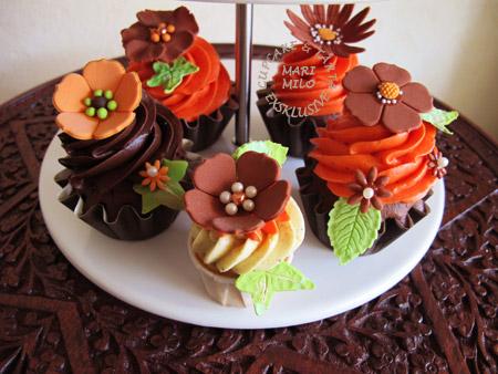 Födelsedags Cupcakes i höst färger