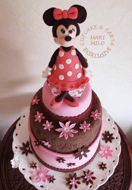 Minnie Mouse barnkalas tårta