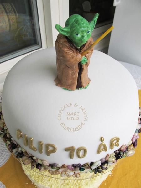 Barnkalastårta Yoda Star Wars