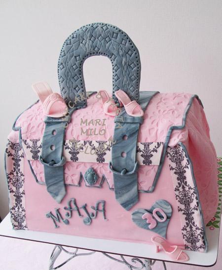 Fantastiska-tårtor-väska-skor-tårta