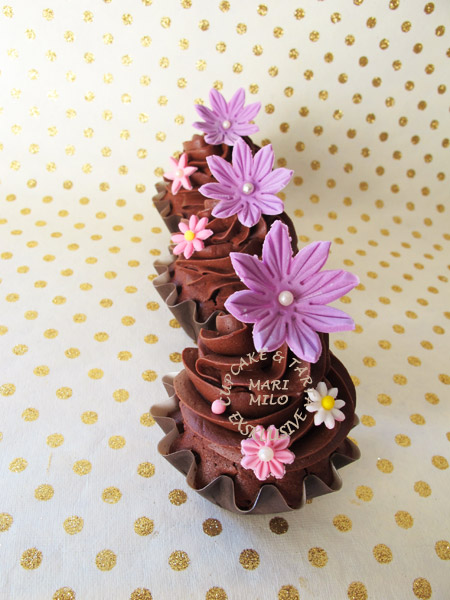födelsedags cupcakes