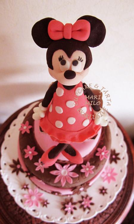 Barn tårta Minnie Mouse födelsedagstårta