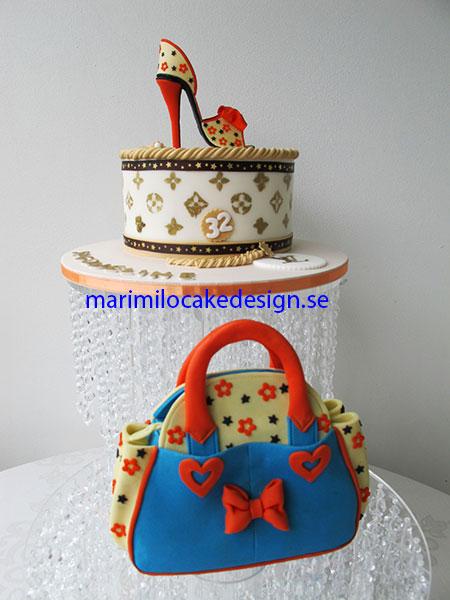 Sko och väska tårta