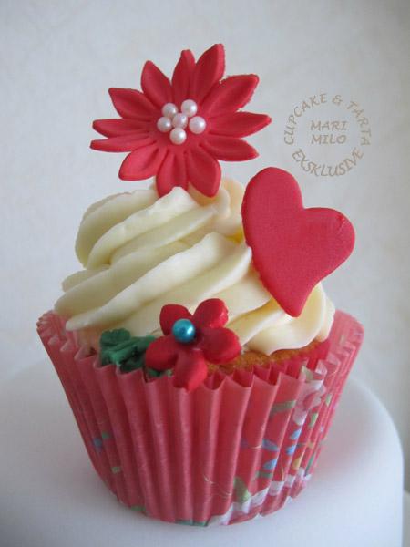 Alla hjärtans dag cupcake