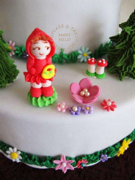 Rödluvan sockerfigur och barntårta