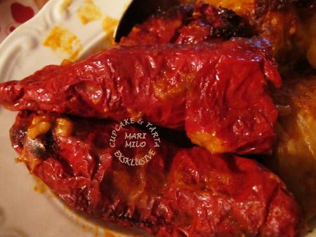Veganmat fylld lufttorkad Leskovacka paprika