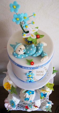 Doptårta och cupcakes