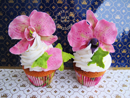 Lyxiga bröllopscupcakes
