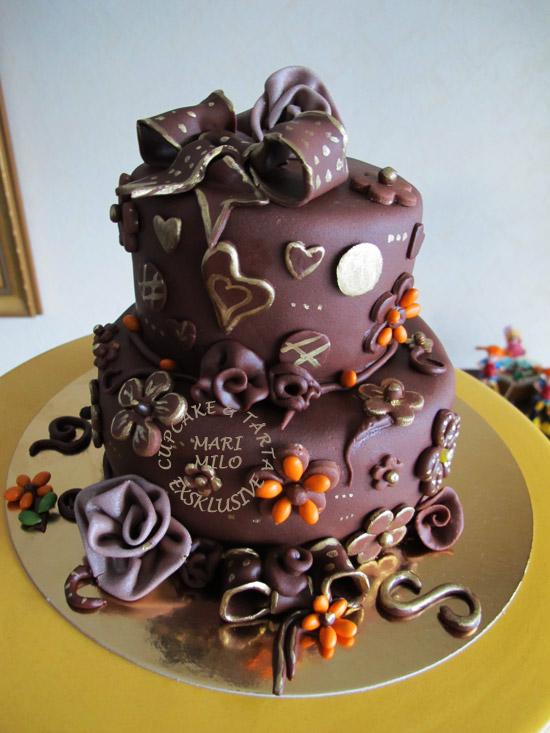 Bröllopstårta chokladtårta