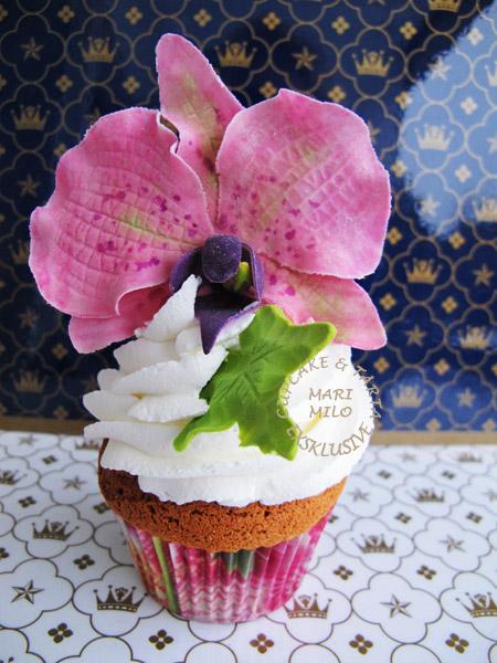 Cupcakes med orkidéer