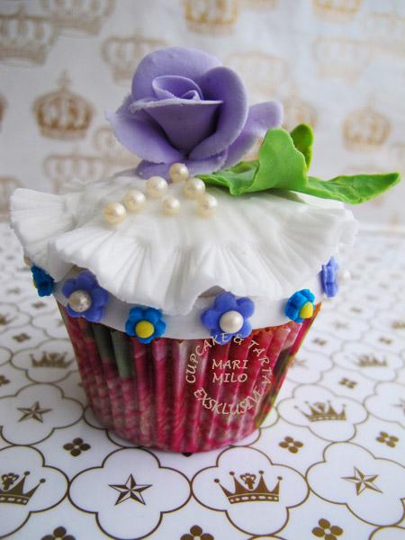 Cupcake och ros