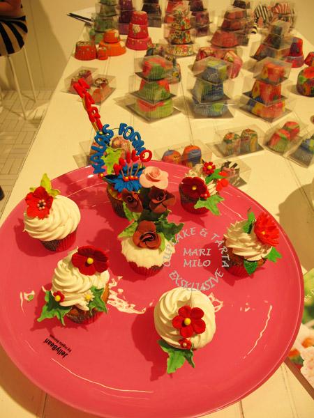 Kalasform och Mari Milo cupcakes