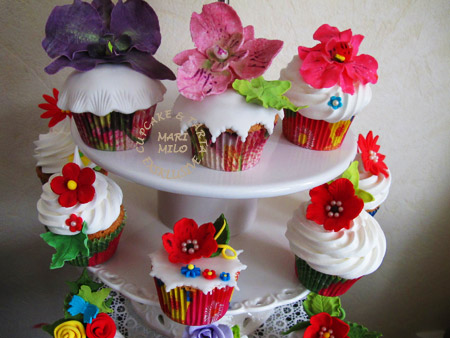 Glamour Bröllopscupcakes