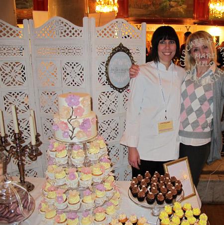 Åsa, hennes tårta, cupcakes och jag