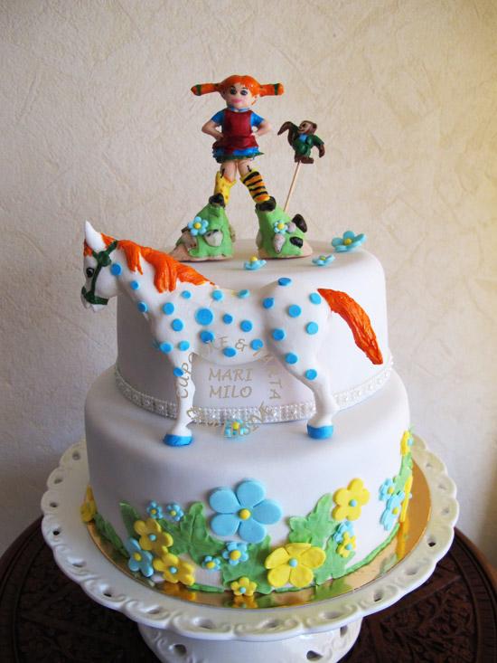 Motivtårtor, Pippi Långstrump tårta