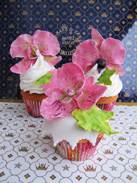 Orkideer cupcakes