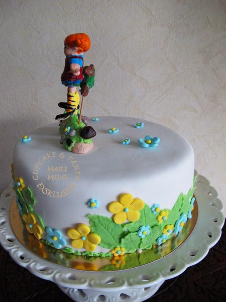 Födelsedagstårta Pippi Långstrump
