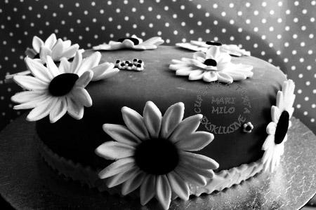 Svart-vit tårta