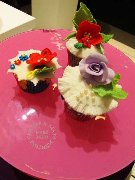 Vackert poslin, cupcakes, Formex, Jelly Bean, tårtfat