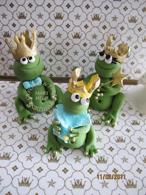 Groda familj, tårtdekorationer