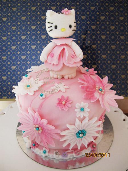 Hello Kitty 8 bitars tårta