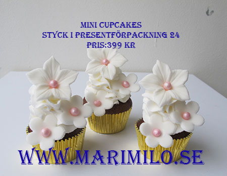 Mini Cupcakes Bröllop och Dop