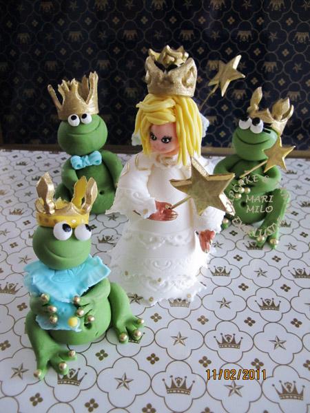 Moderna och populära tårtor, sockerfigurer