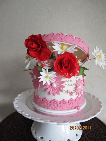Presentask tårta