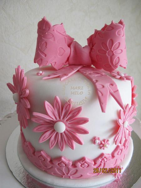 Tårta med rosett