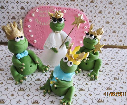 Sockerfigurer grodorna