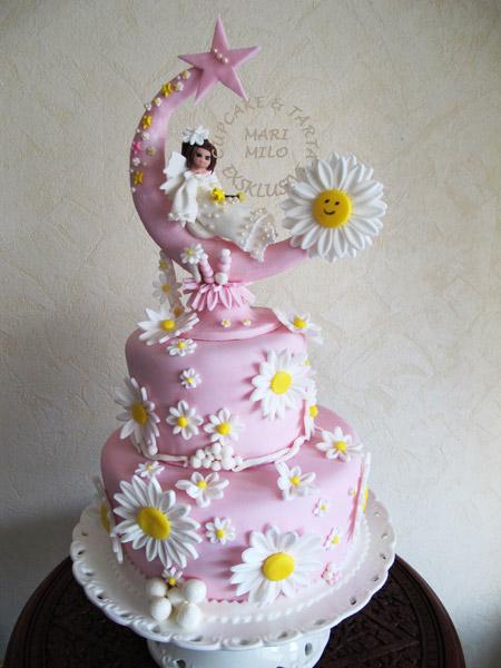 Barntårta för dop eller födelsedagar