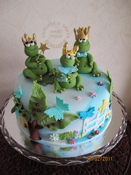Tema tårta grodor