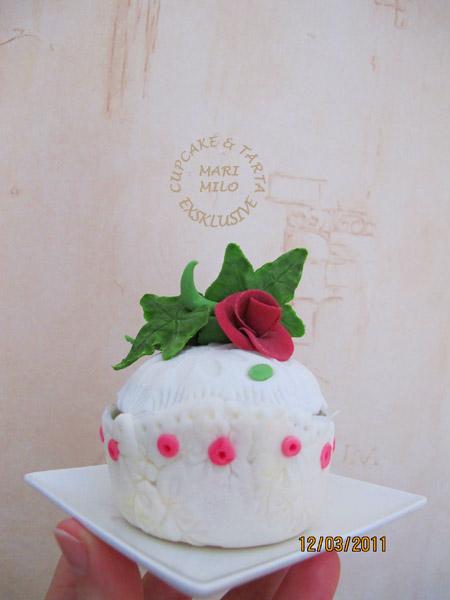 Cupcake med ätbar dekoration