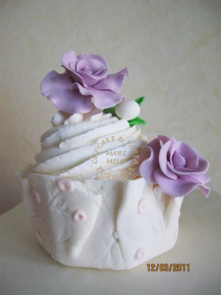 Mini tårta cupcakes med rosor