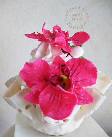 Cupcakes med sockerblommor