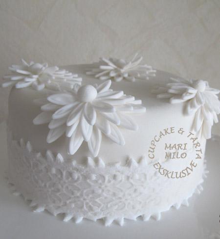 Silverbröllops tårta