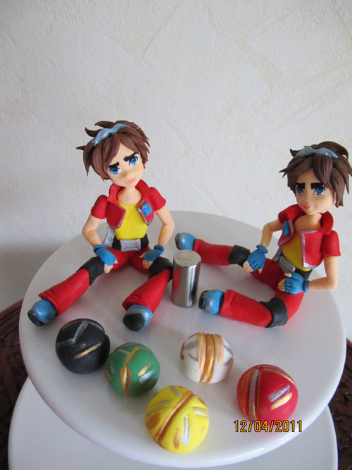 Bakugan, ätbara sockerfigurer