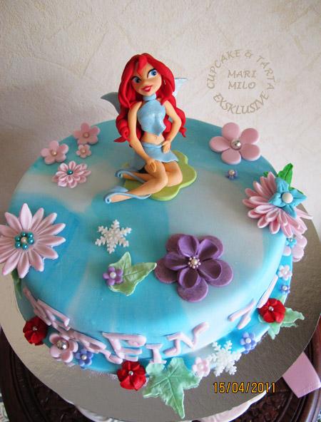 Födelsedagstårta Winx Blomm