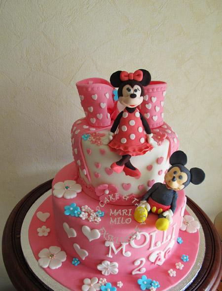 Mimmi och Musse Pigg tårta