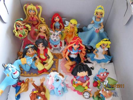Sockerfigurer för tjejer och födelsedags och doptårtor