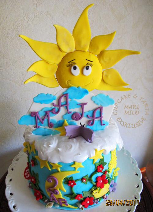Tårta till Majas barnkalas