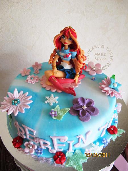 Winx Blomm tårta med stora sockerfigur