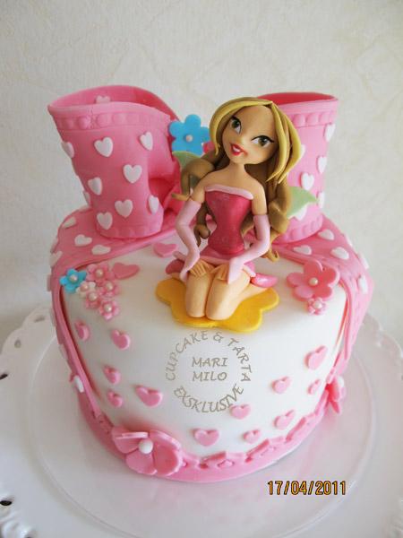 Winx Flora födelsedagstårta