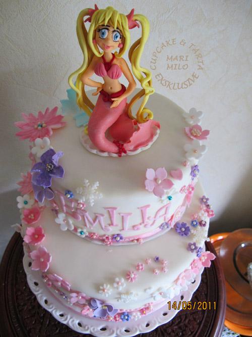 Den lilla sjöjungfru tårta